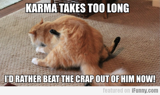 Karma takes too long...