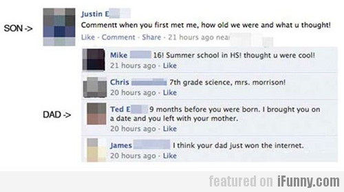 His Dad Just Won The Internet!
