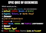 Epic Quiz Of Geekiness
