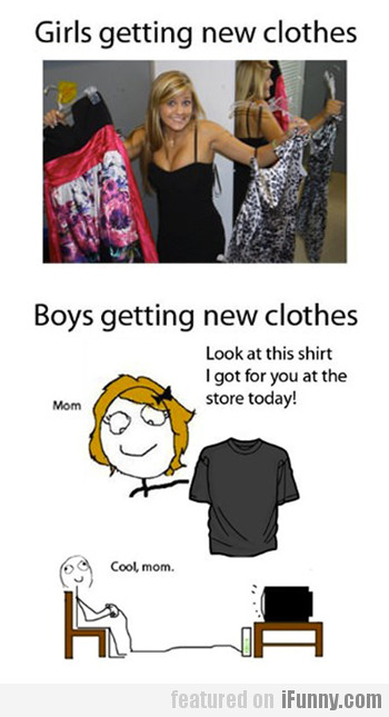Girls & Boys Getting New Clothes