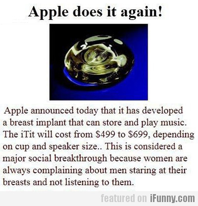 Apple Does It Again!