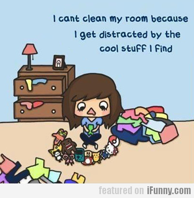 I Can't Clean My Room Because...