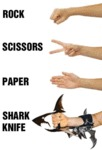 Rock, Scissors, Paper, Shark Knife!