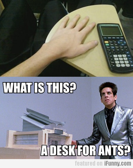What Is This? A Desk For Ants?