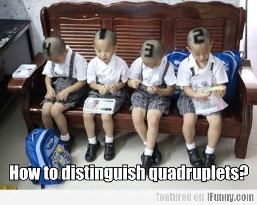 How To Distinguish Quadruplets?