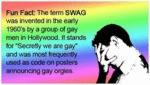 Fun Fact: The Term Swag...