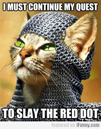 I Must Continue My Quest To Slay The Red Dot!