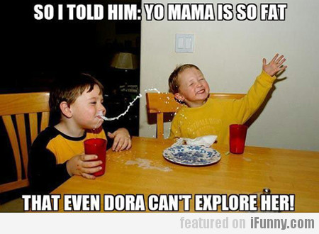 So I Told Him: Yo Mama Is So Fat That...