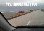 Yes, Trucks Rest Too