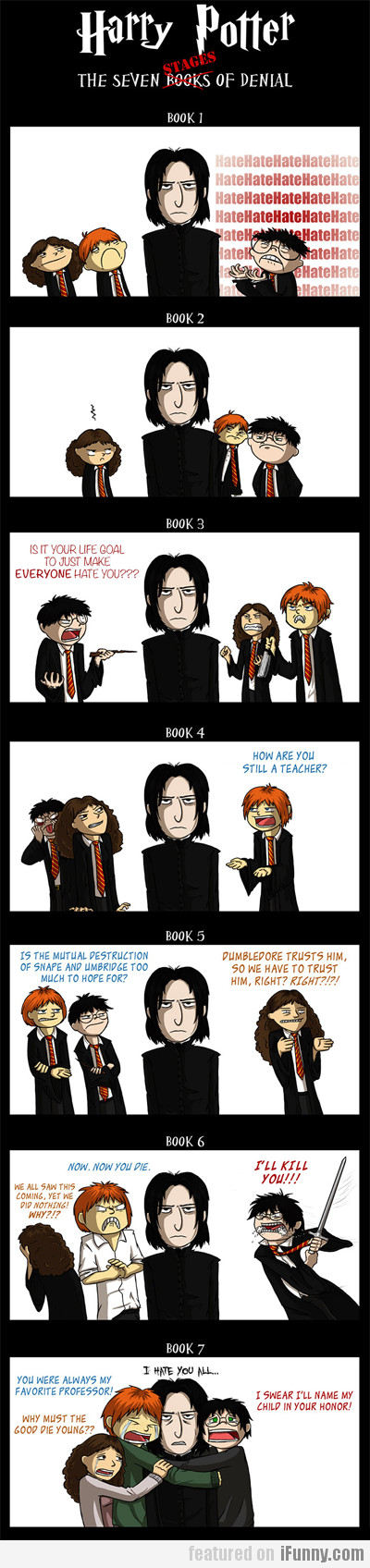 Harry Potter, The Seven Stages Of Denial