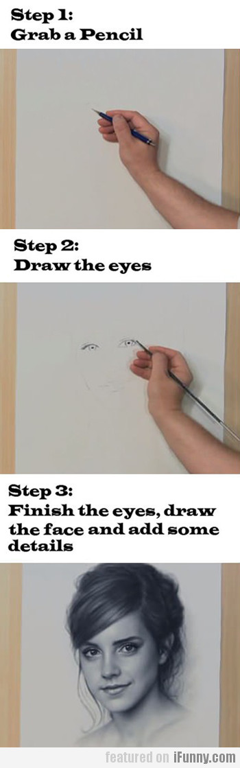 How To Draw Emma Watson In 3 Simple Steps