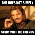 One Does Not Simply Study With His Friends