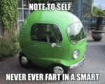 Note To Self, Never Ever Fart In A Smart