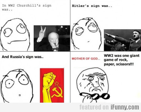 In ww2 churchill's sign was…