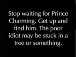 Stop Waiting For Prince Charming…
