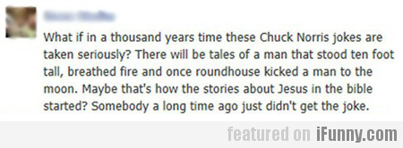 What If In A Thousand Years Time…