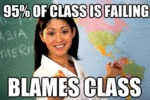 95 % Of Class Is Failing