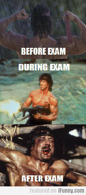 Before, During And After Exam