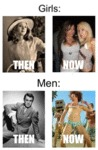 Girls Vs. Men, Then And Now