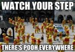 Watch Your Step, There's Pooh Everywhere