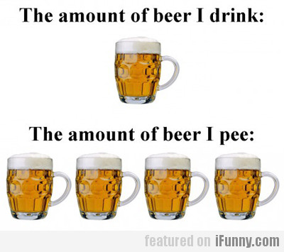 The Amount Of Beef I Drink