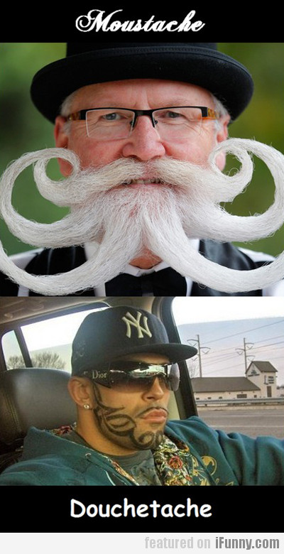 Moustache VS. Douchetache
