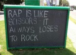Rap Is Like Scissors…
