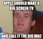 Apple Should Make A Big Screen Tv