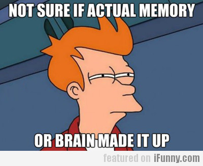 Not Sure If Actual Memory Or Brain Made It Up