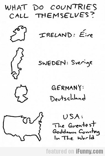 What do countries call themselves?