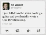 I Just Fell Down The Stairs Holding A Guitar...