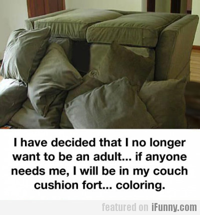 I no longer want to be an adult