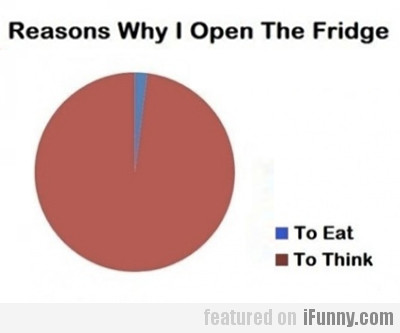Reasons why I open the friedge