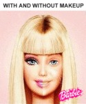 Barbie, With And Without Makeup
