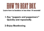 How To Beat Box