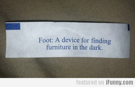 Foot: A Device For Finding Furniture In The Dark