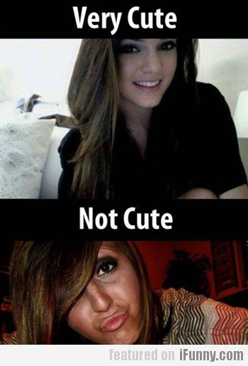 very cute vs. not cute