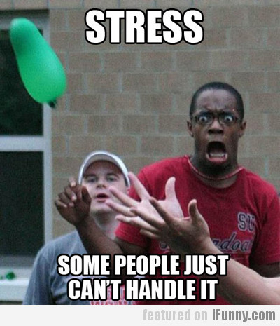 Stress some people just can t handle it ifunny com