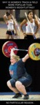 Women's Track & Field Vs. Women's Weightlifting