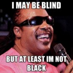 I May Be Blind, But At Least I'm Not Black