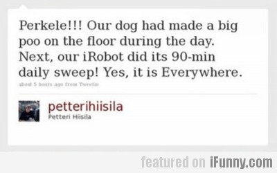 Our Dog Had Made A Big Poo On The Floor...
