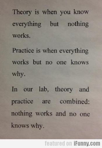 theory, practice & our lab