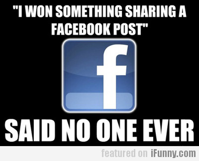 I Won Something Sharing A Facebook Post...