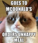 Goes To Mcdonald's, Orders Unhappy Meal