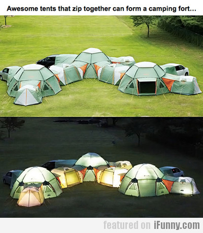 awesome tents that zip together...