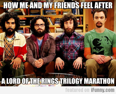 How Me And My Friends Feel After A Lotr...