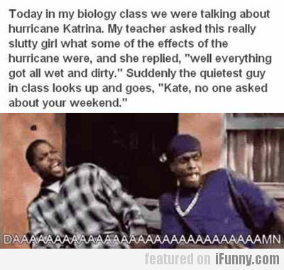 Today In My Biology Class We Were Talking About...