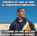 Studying Is 10% Luck, 20% Skill, 15%...