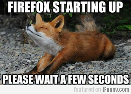 Firefox Starting Up, Please Wait A Few Seconds