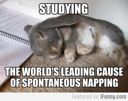 Studying, The World's Leading Cause Of...